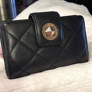 Kate Spade Quilted BLK gold HW used